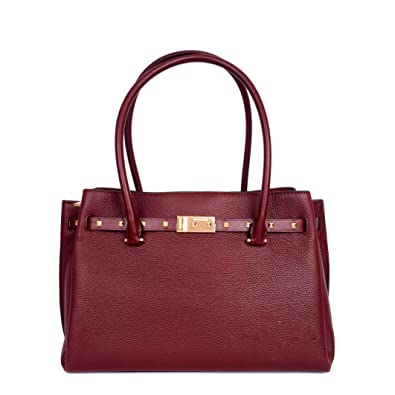 3c9dad764975 Michael Kors Addison Large Pebbled Leather Tote - Oxblood: Handbags:  Amazon.com