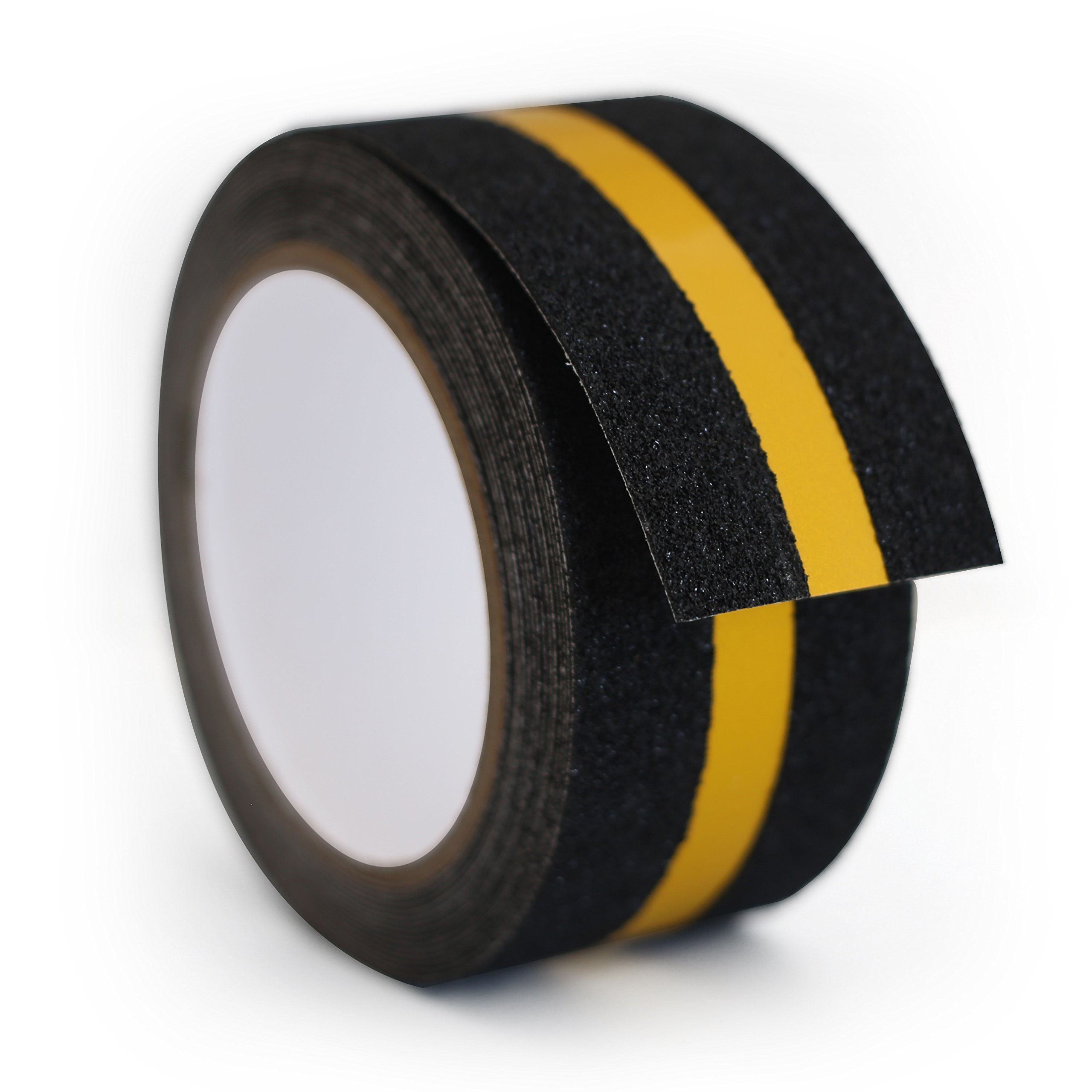 LifeGrip Waterproof Antislip Safety Tape - Reflective - Black/Yellow - Highest Traction - Indoor or Outdoor (2'' X 15')