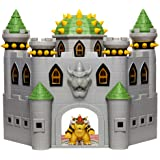 """Super Mario 400204 Nintendo Bowser's Castle Super Mario Deluxe Bowser's Castle Playset with 2.5"""" Exclusive Articulated Bowser"""