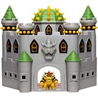 Nintendo Bowser's Castle Super Mario Deluxe Bowser's Castle Playset med 6,3 cm exklusiv artikulerad bowser actionfigur…