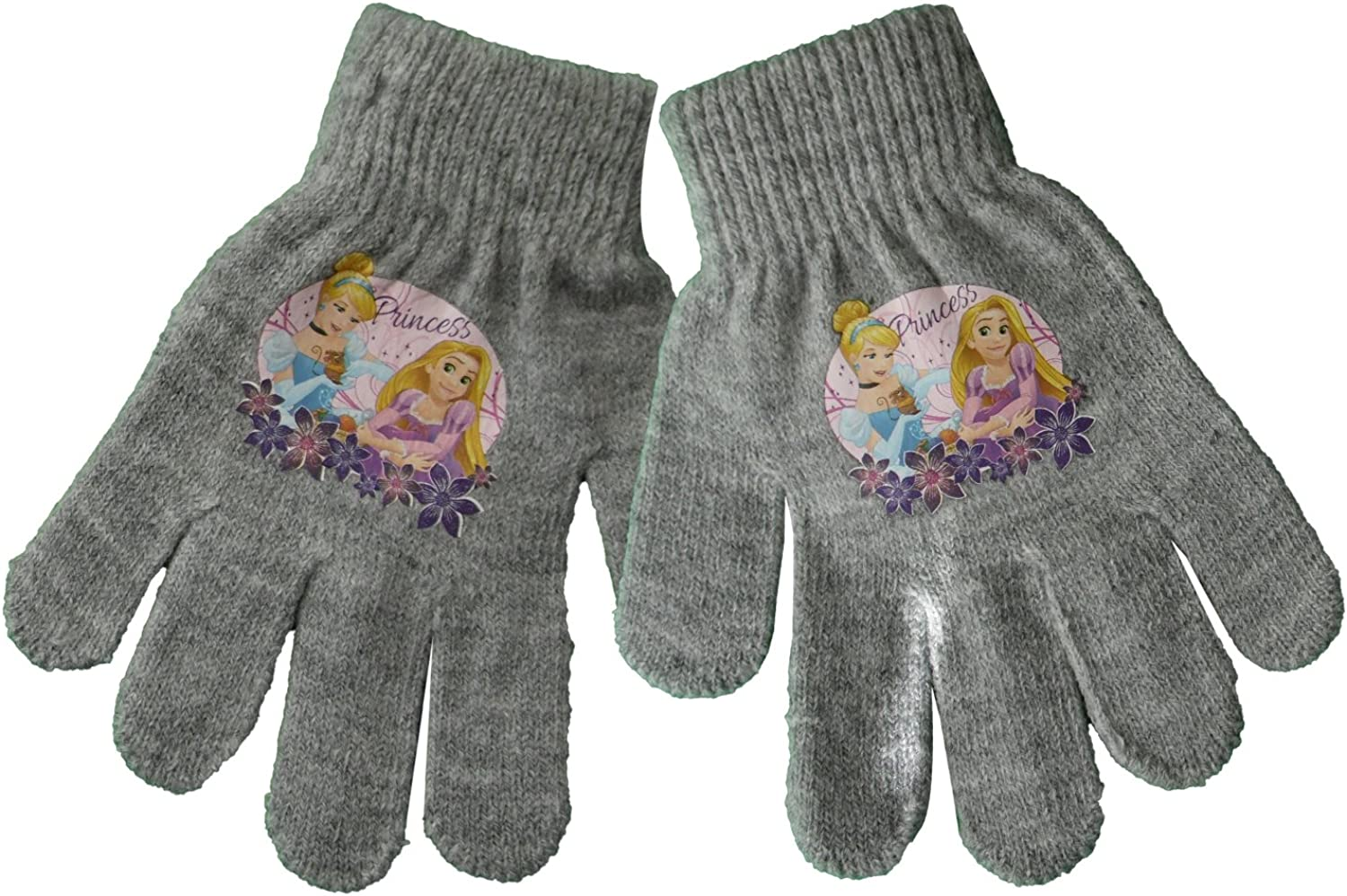 L Grey Disney Princess Girls Winter Hand Gloves