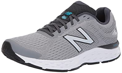 New Balance Men's 680v6 Cushioning Running Shoe, Light Aluminumorca, 8.5 4E US