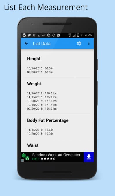 Amazon com: Body Measurement Tracker: Appstore for Android