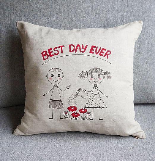 Funda de almohada para novio, novia, novia, cumpleaños ...
