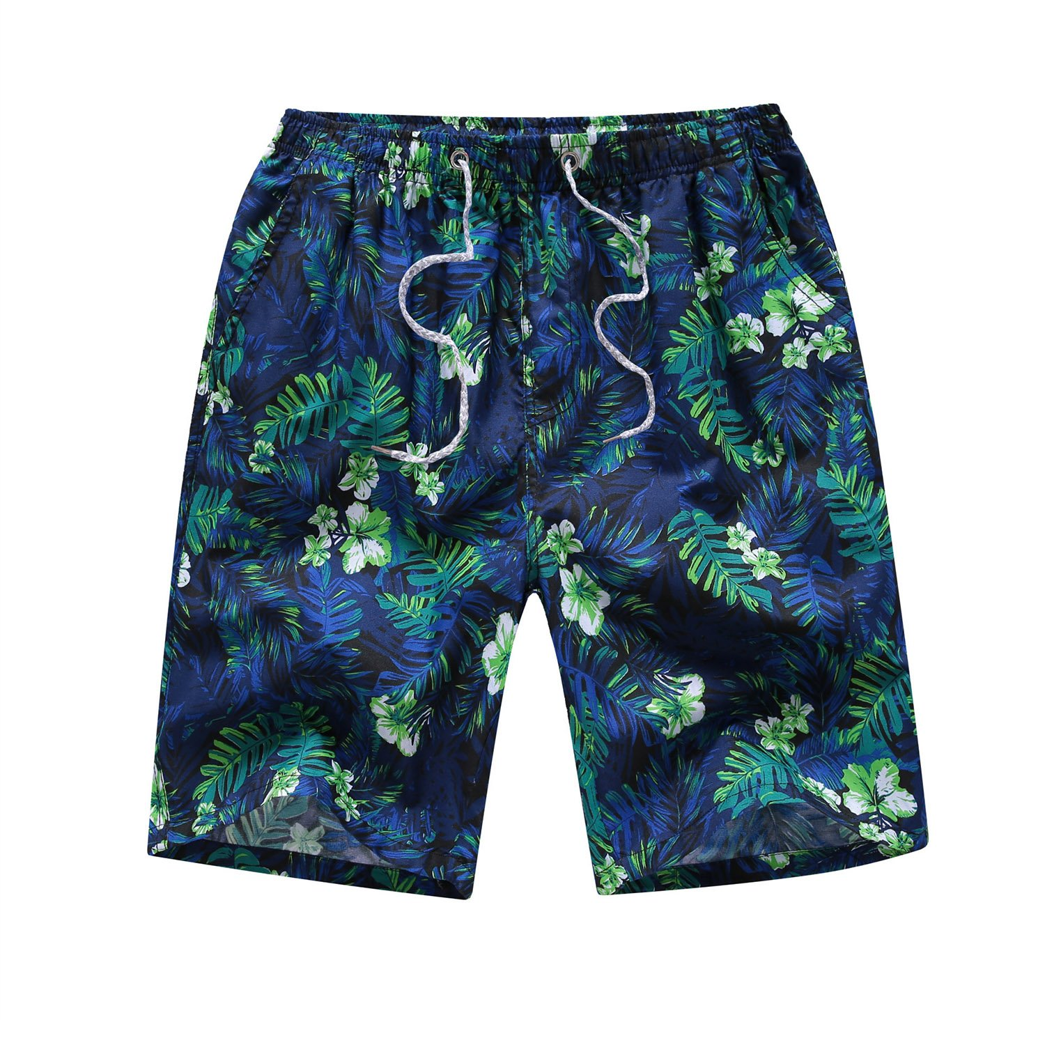 Justay Men's Printing Quick Dry Beach Shorts Swim Trunk