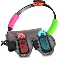 Accessories for Nintendo Switch Ring Fit Adventure, 2 Leg Straps for Switch Ring Fit Adventure and 2 Grips for Ring con…