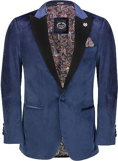Chaqueta de cena de terciopelo suave y suave para hombre, chaqueta de esmoquin retro, ajuste a medida, para hombre: Amazon.es: Ropa y accesorios