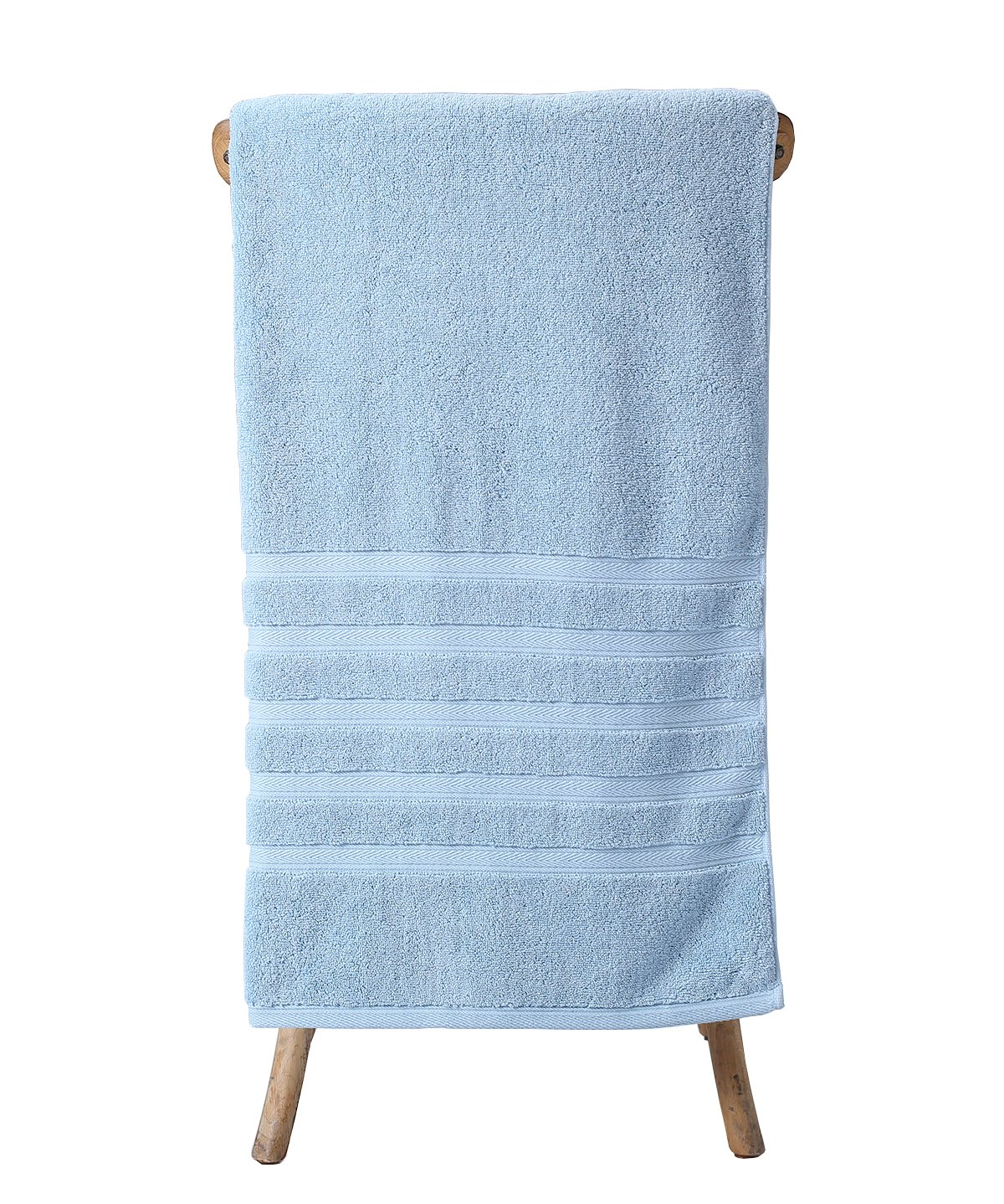 Metrekey Large Bath Towel Luxury Hotel Spa Collection Absorbent Bathroom Towels 35x70 inches Soft Clearance Organic 100% Cotton Thick Ultra Oversized Blue