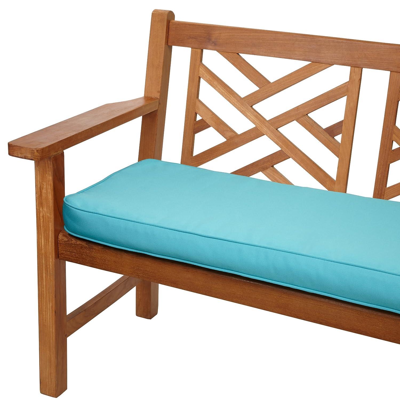 amazoncom mozaic company sunbrella indoor outdoor 48 by 19inch corded bench cushion canvas aruba patio lawn u0026 garden - Sunbrella Outdoor Pillows