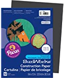 Pacon SunWorks Construction Paper, 9-Inches by 12-Inches, 50-Count, Black (6303)
