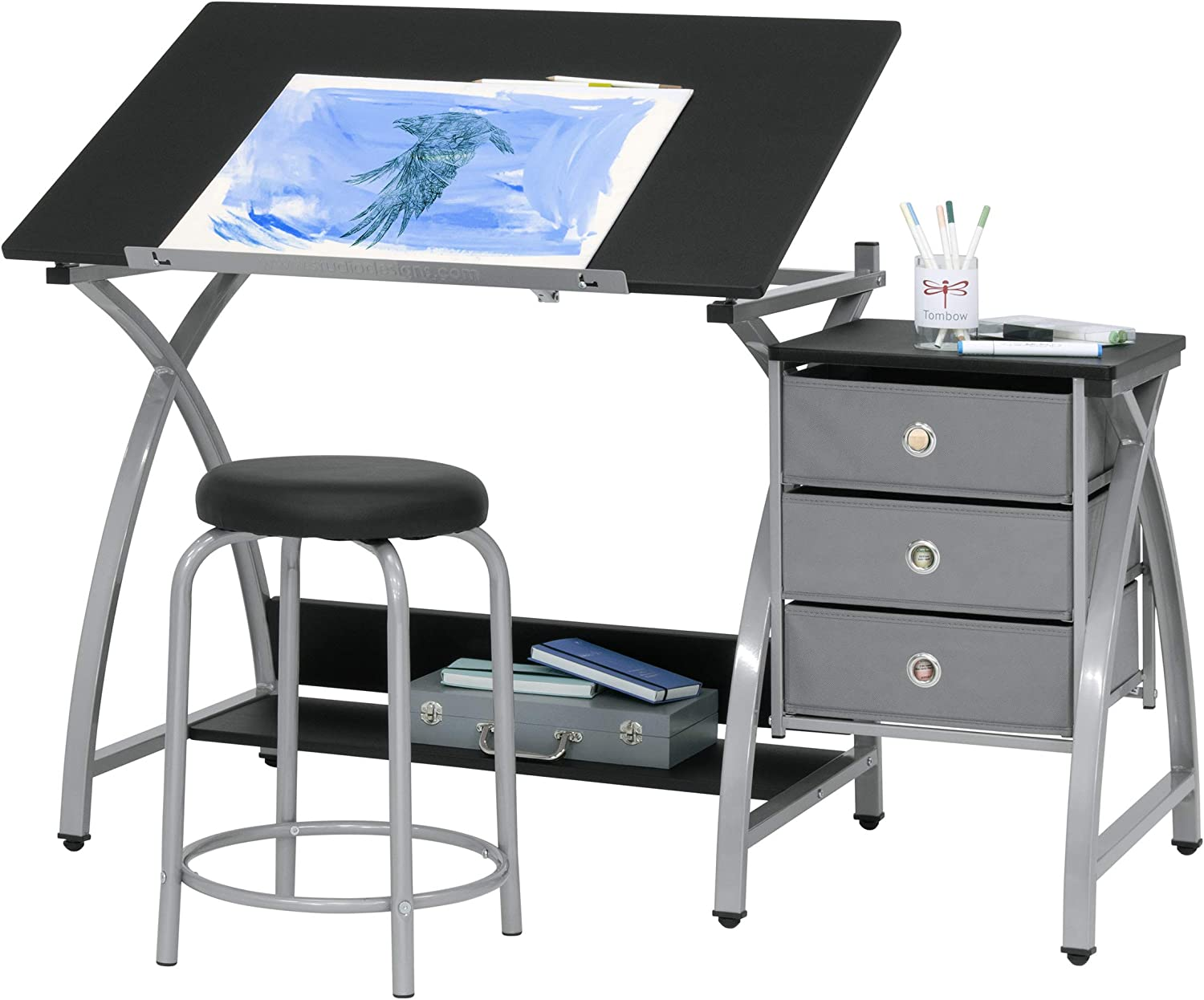 2 Piece Comet Art, Hobby, Drawing, Drafting, Craft Table with 36