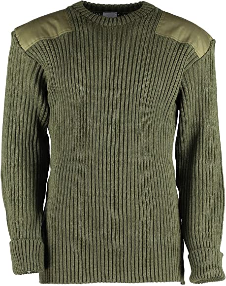 Genuine British Army (Grade 1 Used) Pullover Woolly Pully Olive Green