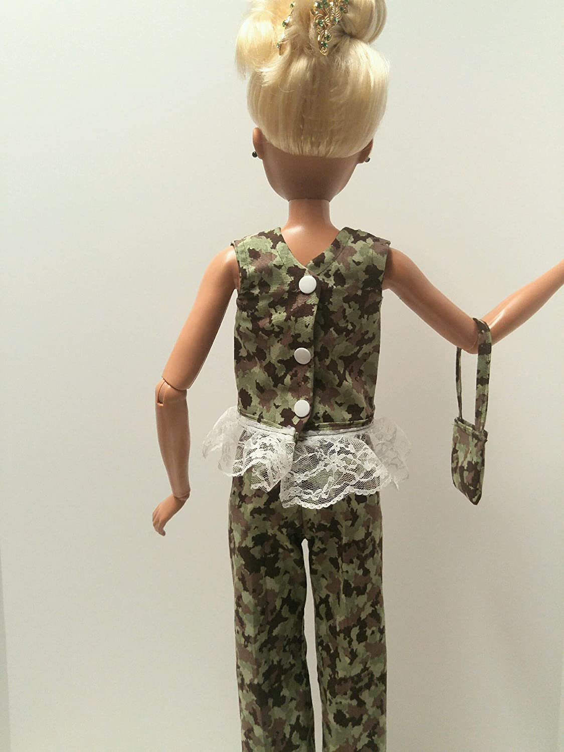 Doll clothes Lovely handmade Camouflage pants set for dolls Outfit for 28 inch Barbie