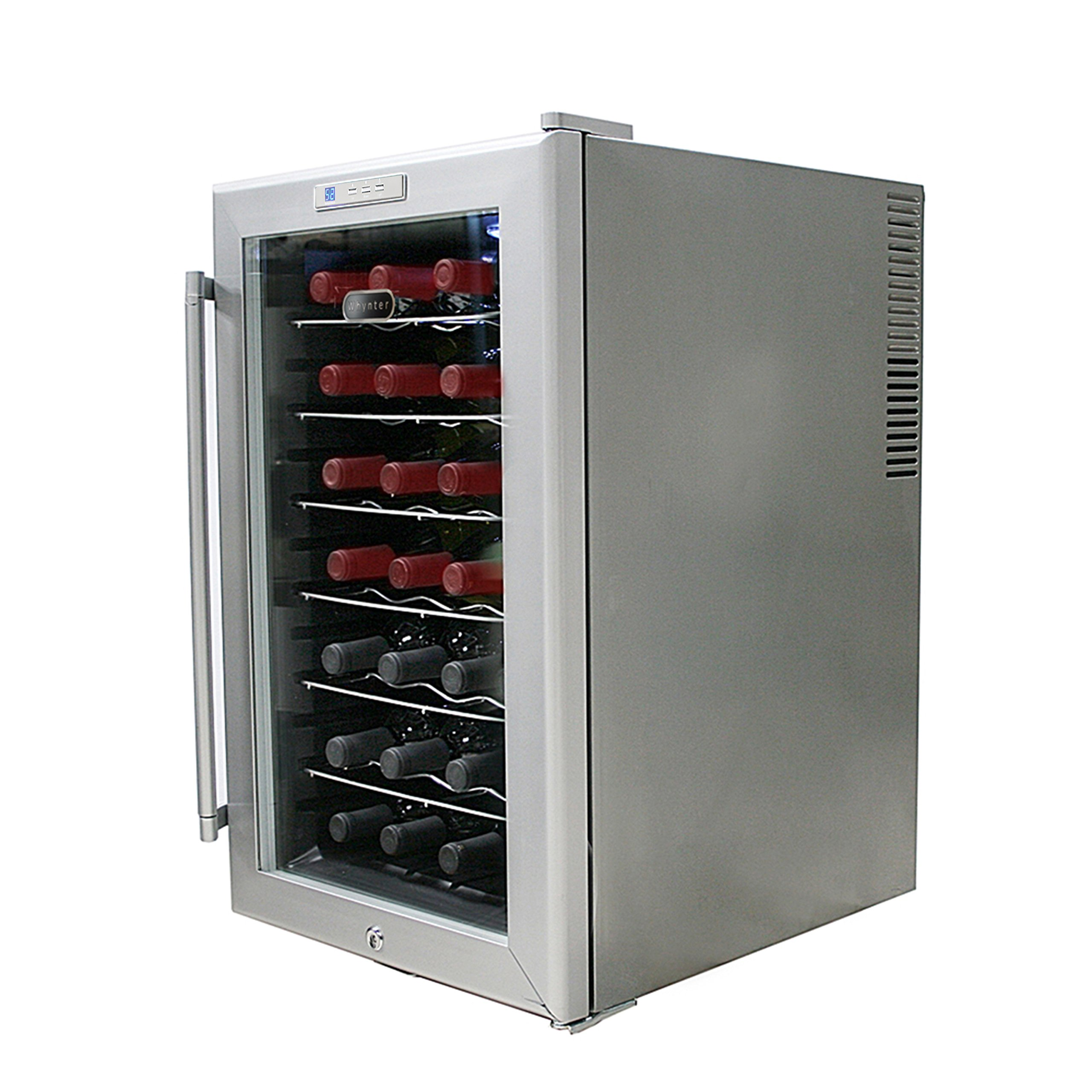 Whynter WC28S SNO 28 Bottle Wine Cooler, Platinum with Lock by Whynter (Image #6)