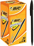 BIC Economy Ball Pens Medium Point (1.0 mm) - Black, Box of 50