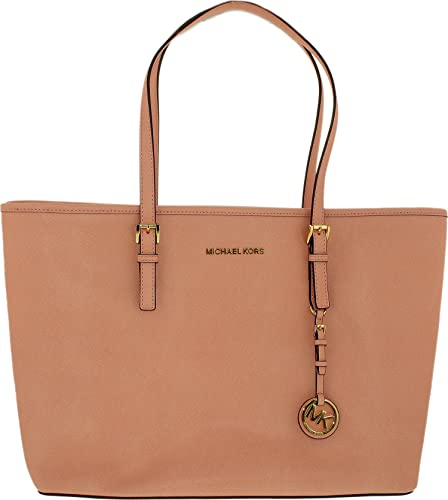 e4221105da00 michael kors jet set travel medium top zip multifunction tote pale  pink gold  Amazon.in  Shoes   Handbags