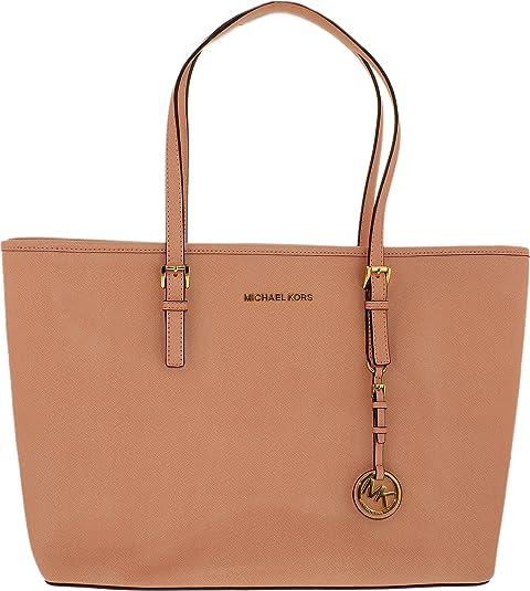 cc56d15015be Michael Kors 30T5GTVT2L-695 Women's Jet Set Travel Top-Zip Pale Pink  Saffiano Leather Medium Tote: Michael Kors: Amazon.ca: Luggage & Bags