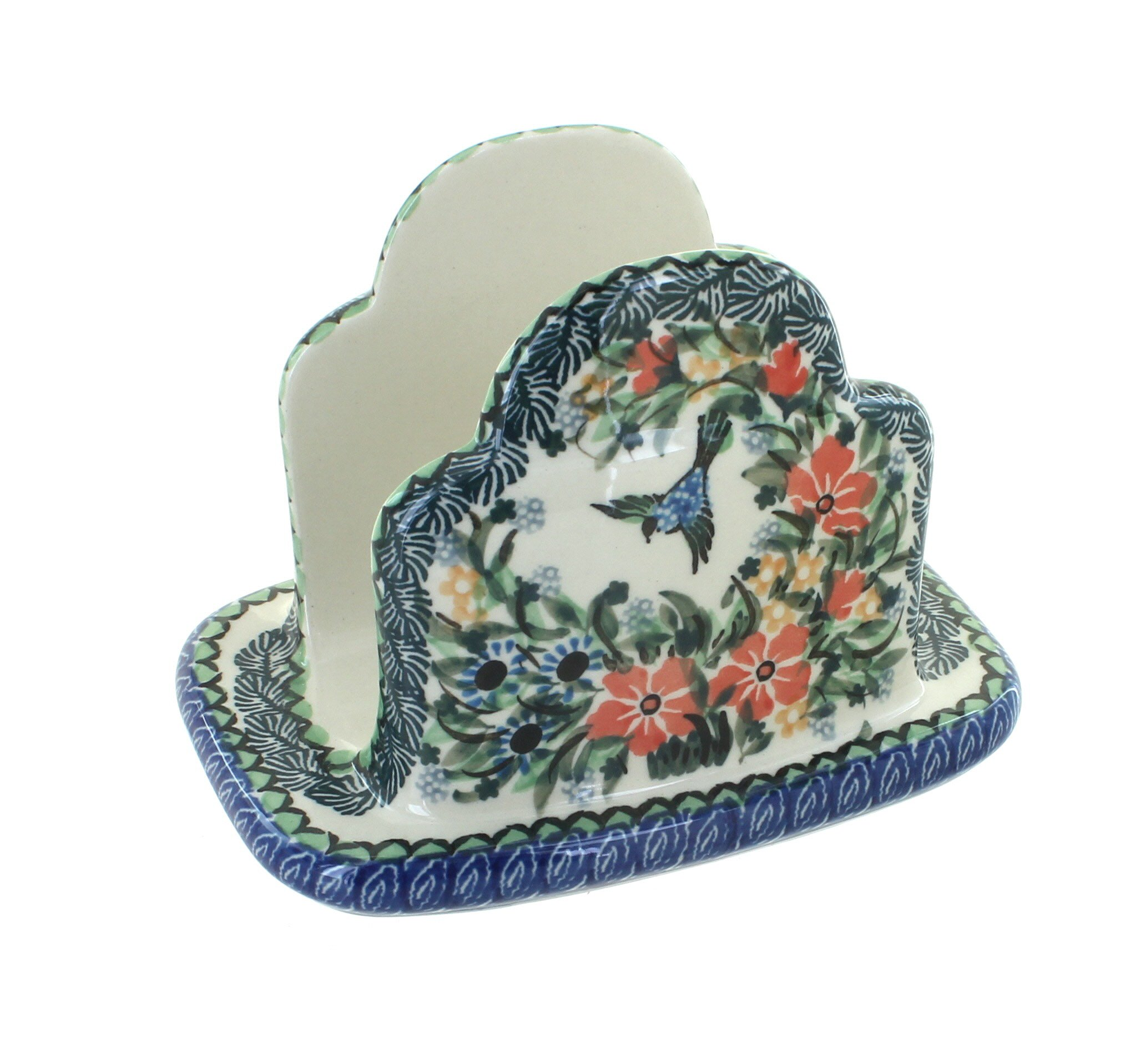 Polish Pottery Maria Napkin Holder