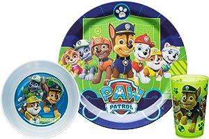 Nickelodeon PWPB-0392-B Kids Dinnerware Sets, 3 Piece, Paw Patrol Boy