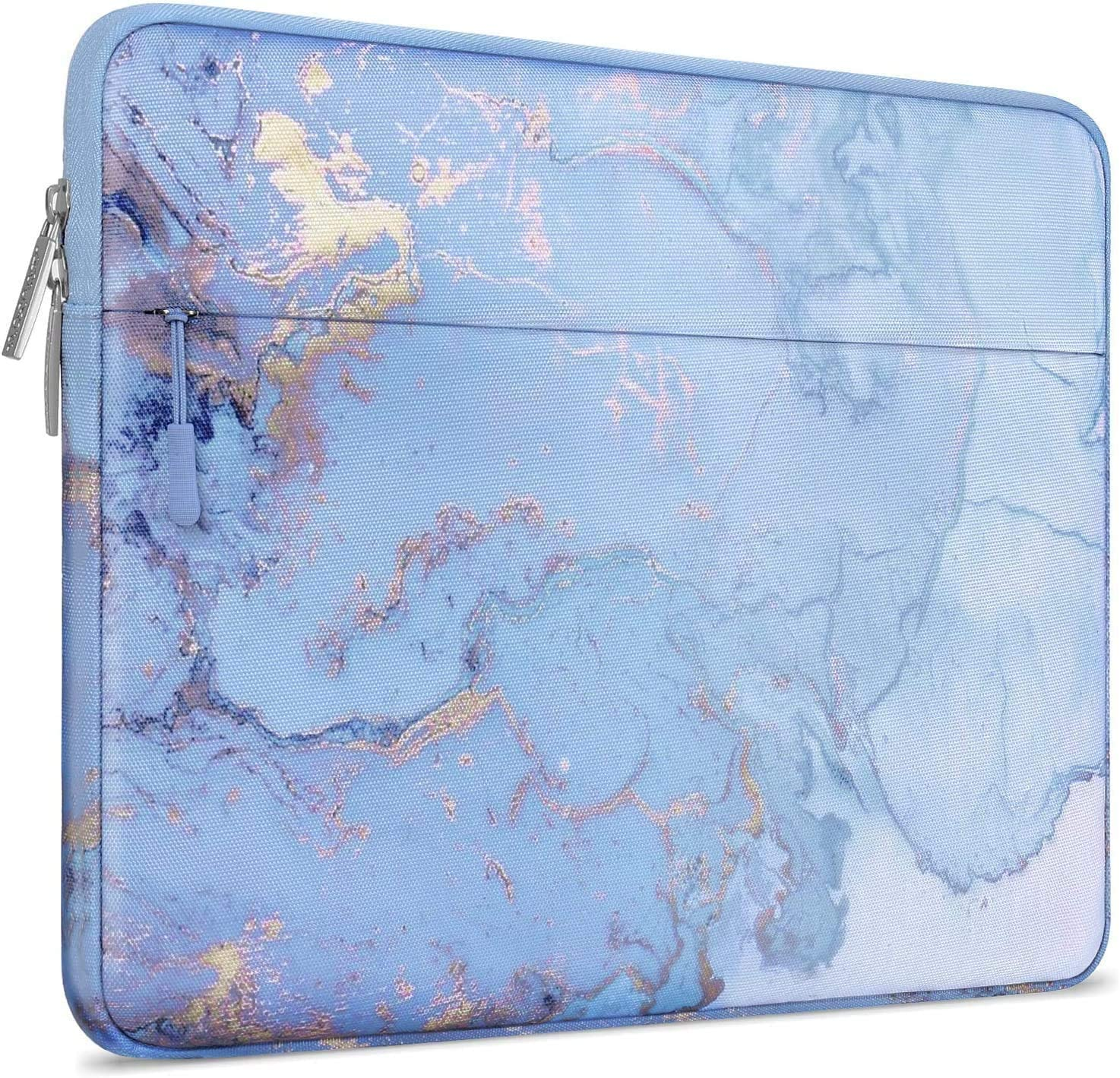 MOSISO Laptop Sleeve Compatible with 2019 MacBook Pro 16 inch Touch Bar A2141, 15-15.6 inch MacBook Pro Retina 2012-2015, Notebook, Polyester Horizontal Watercolor Marble Bag