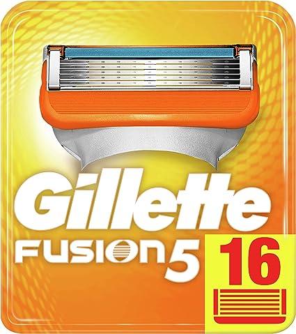 Gillette Fusion5 Maquinilla De Afeitar, x 16, Paquete Apto Para El Buzón De Correos: Amazon.es: Salud y cuidado personal
