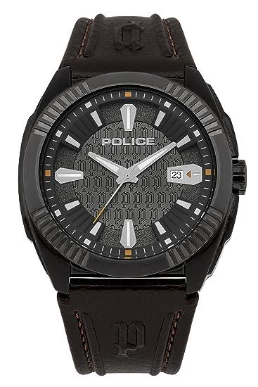 Police PL.93592AEU/61 - Reloj de cuarzo para hombres con esfera de plata