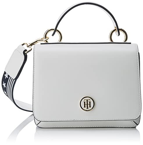 Tommy Hilfiger - Youthful Heritage Flap Crossover, Carteras de mano Mujer, Blanco (Bright