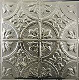 """Fleur de Lis, 12"""" Pattern, #102, 5 pcs of Unfinished Nail-up, 2x2 Metal Tiles, Not cheap plastic!"""