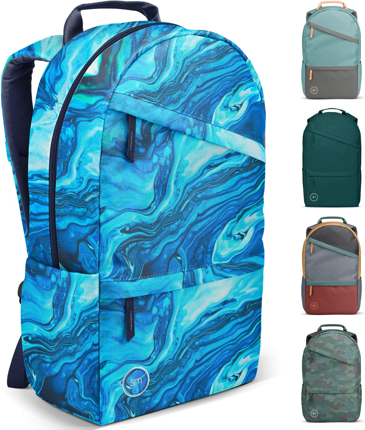 Simple Modern Legacy Backpack with Laptop Compartment, Ocean Geode, 25 Liter