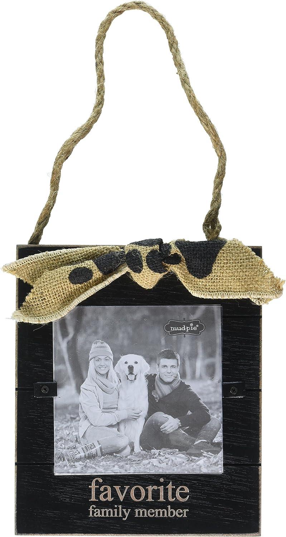 "Mud Pie Favorite Family Member Door Hanger Frame Ornament 4"" x 4"""