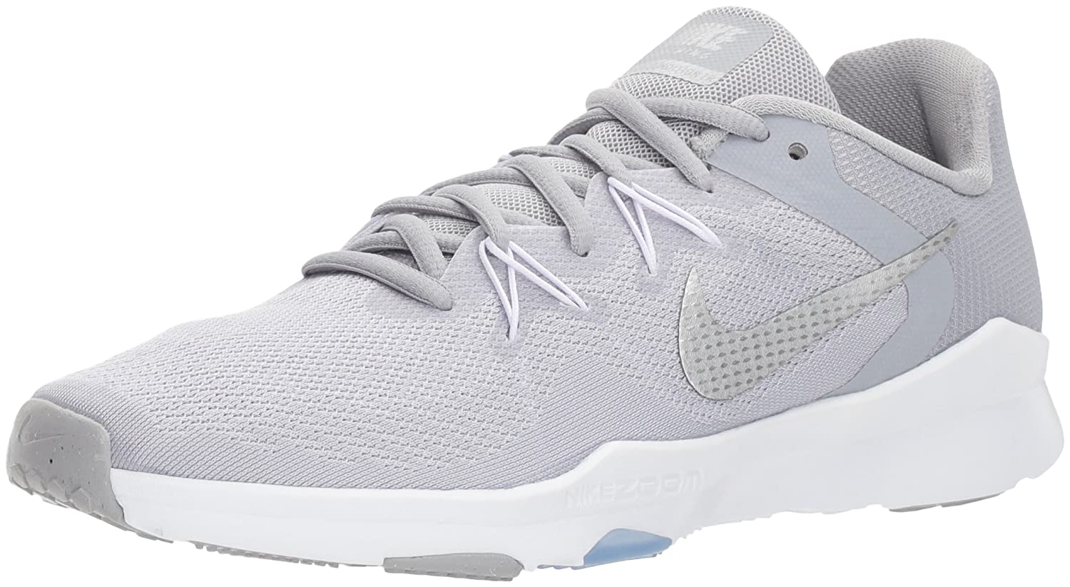 NIKE Women's Zoom Condition 2 Cross Trainer B072C3HRMB 10.5 B(M) US|Wolf Grey/Metallic Silver - White
