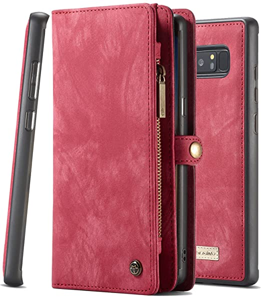 hot sale online 9f065 39786 Galaxy Note 8 Wallet Case XRPow Samsung Galaxy Note 8 Multi-Functional  Folio Flip Vegan Leather Wallet Removable Magnetic Back Cover 11 Card Slots  & 3 ...