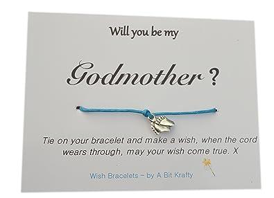A Bit Krafty Friendship Wish Bracelet, Will You Be My Godfather?