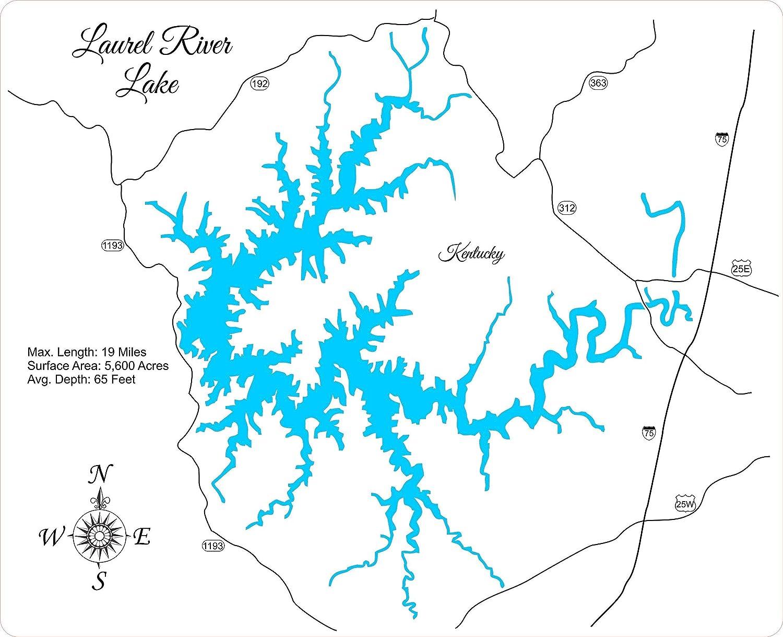 laurel lake ky map Amazon Com Laurel River Lake Kentucky Framed Wood Map Wall laurel lake ky map
