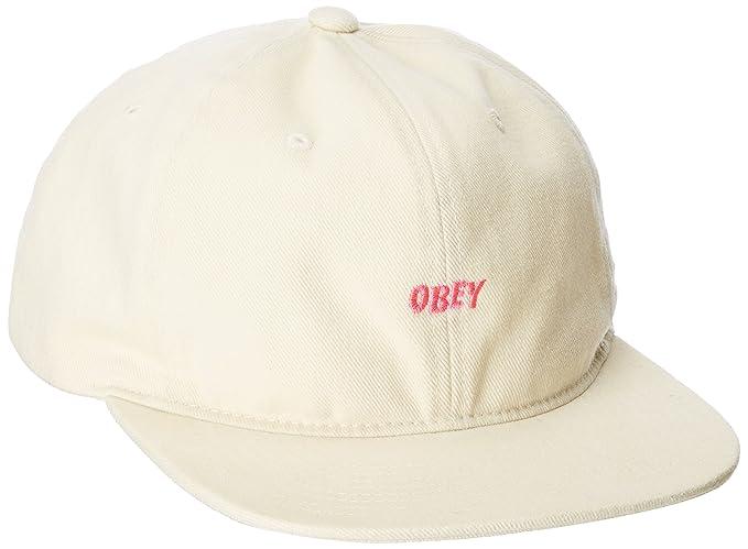 Obey - Gorra de béisbol - para Hombre Crema Talla única  Amazon.es  Ropa y  accesorios 35feebc4d0f
