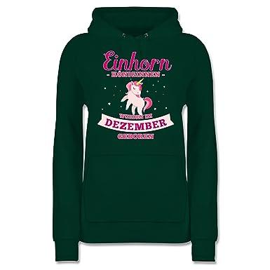 Shirtracer Geburtstag - Einhorn Königinnen wurden im Dezember geboren - Damen  Hoodie  Shirtracer  Amazon.de  Bekleidung 9e850f9cc2
