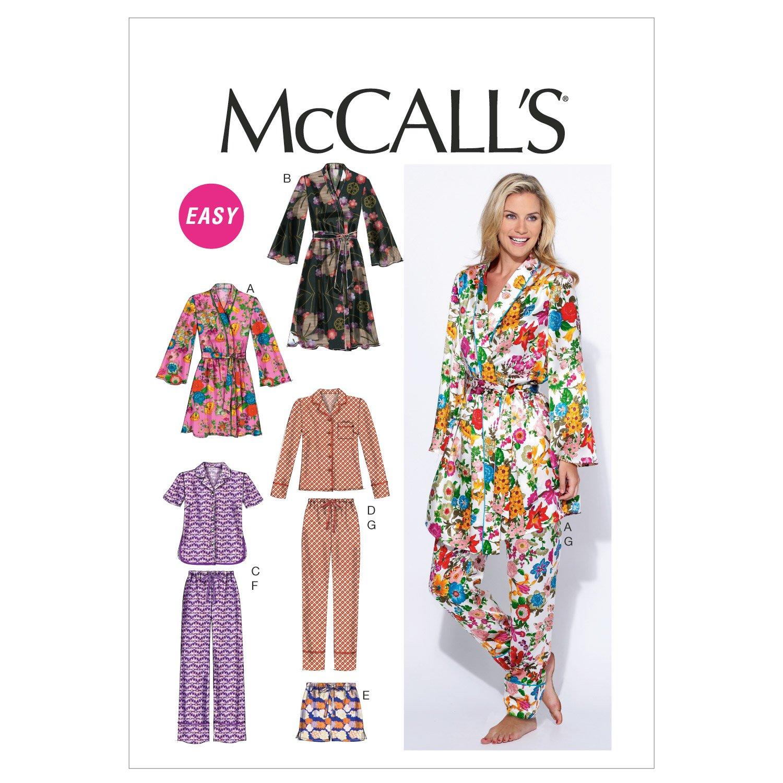 McCall\'s M6659 - Patrones de costura para confeccionar pijamas de ...