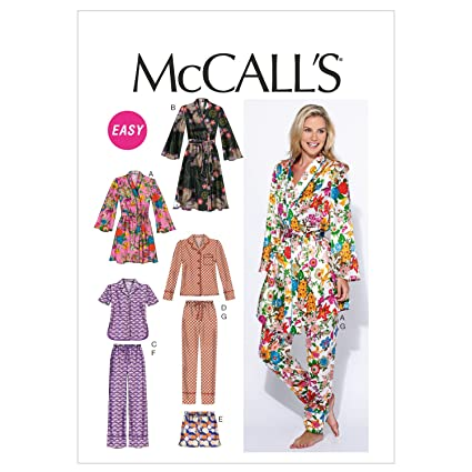 amazon com mccall s patterns m6659 misses robe belt tops shorts