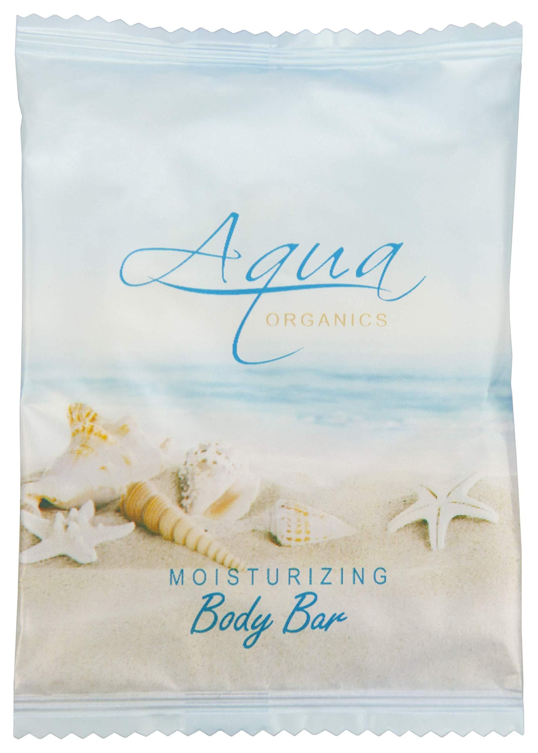 Aqua Organics Bar Soap, Travel Size Beach Hotel Amenities, 1 oz (Case of 500)