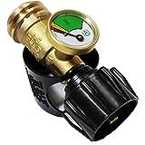 GasOne Propane Gauge - Propane Tank Gauge Pressure Meter Allows To Connect QCC Regulator