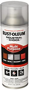 Rust-Oleum 1610830 Crystal Clear 1600 System General Purpose Enamel Spray Paint, 16 fl. oz. container, 12 oz. weight fill, Can (Pack of 6)