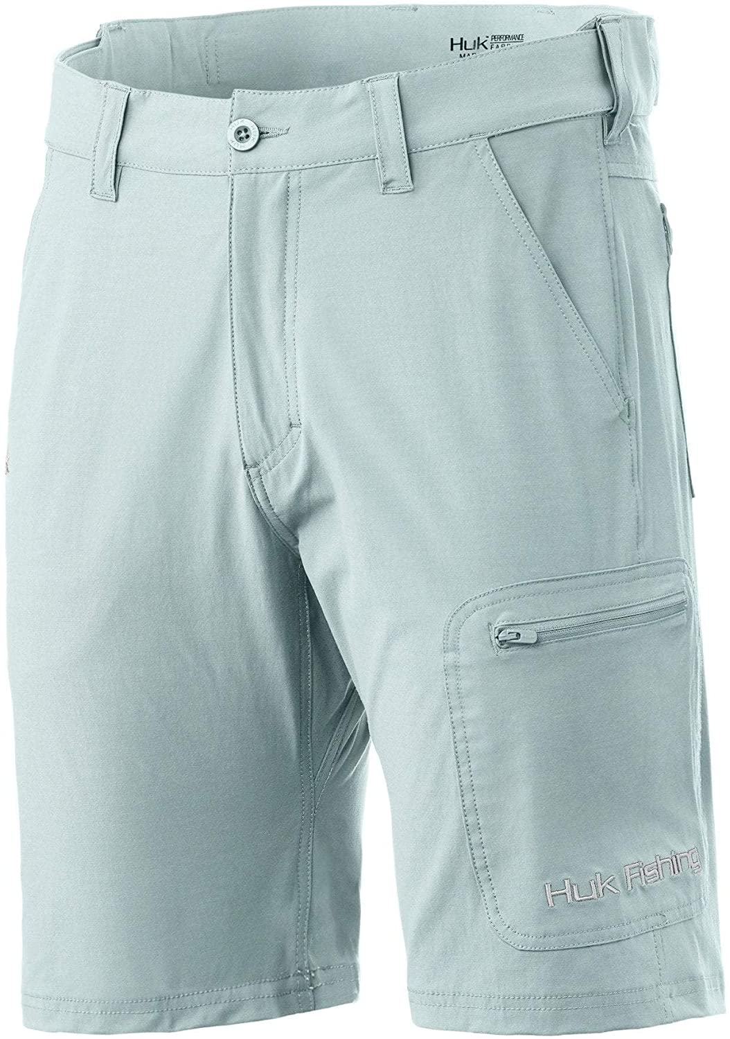 Performance Quick-Drying Short with 30 UPF Sun Protection HUK Womens Woven Dock Short