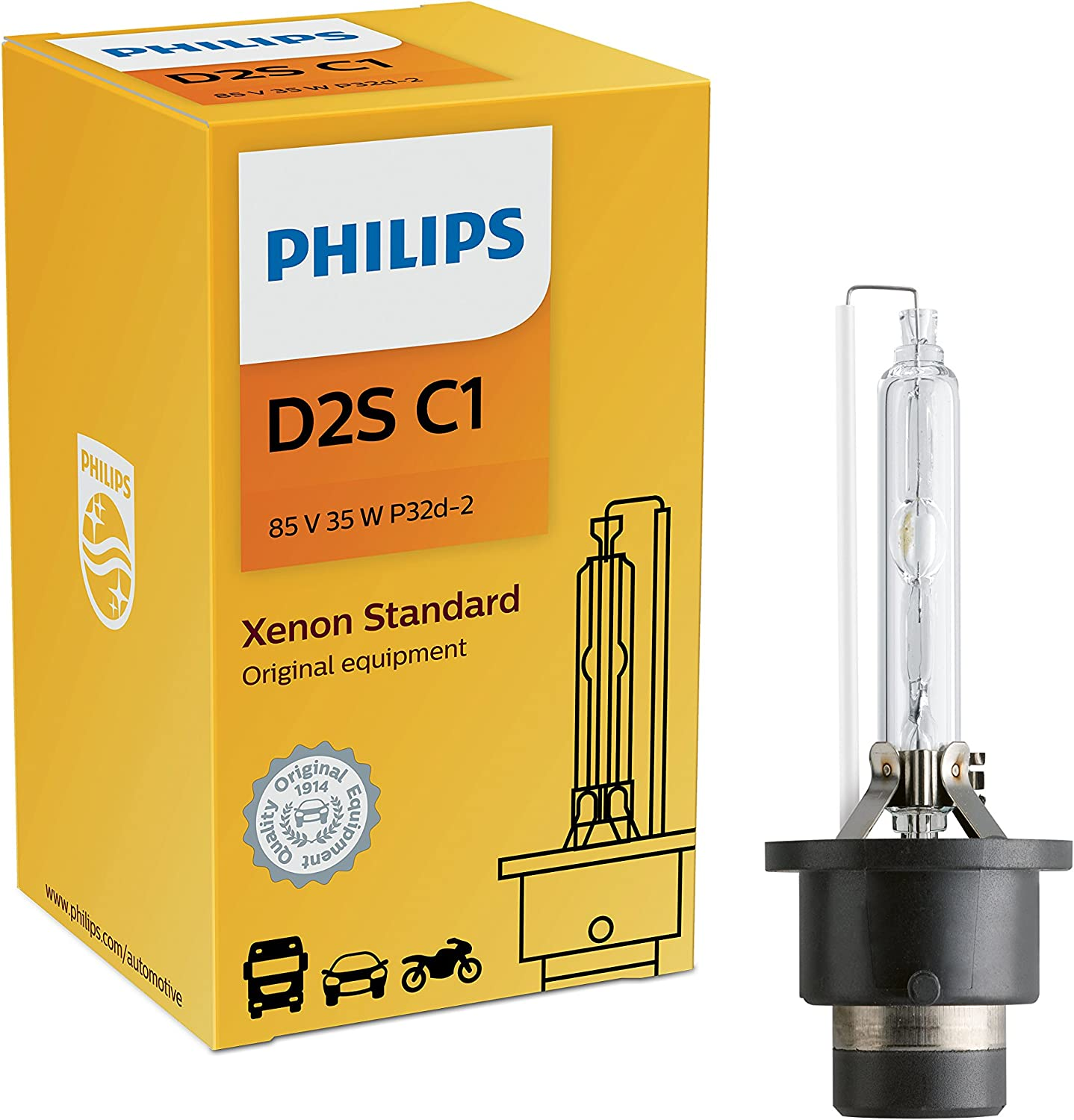 1x PHILIPS OEM FACTORY D2S 4300K 85122 HID XENON BULB 35W 85V Made in Germany
