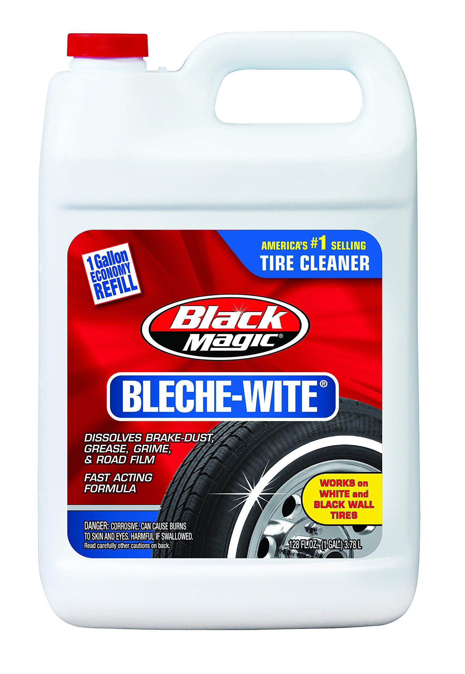 Black Magic 800002222-6PK Bleche-Wite Tire Cleaner, 1 Gallon (Pack of 6)