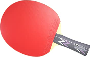 Butterfly Balsa Carbo X5 Pro-Line Table Tennis Racket - ITTF Professional Ping Pong Paddle – Carbon Blade Assembled with Tenergy 80 FX 2.1mm Red and Black Table Tennis Rubber