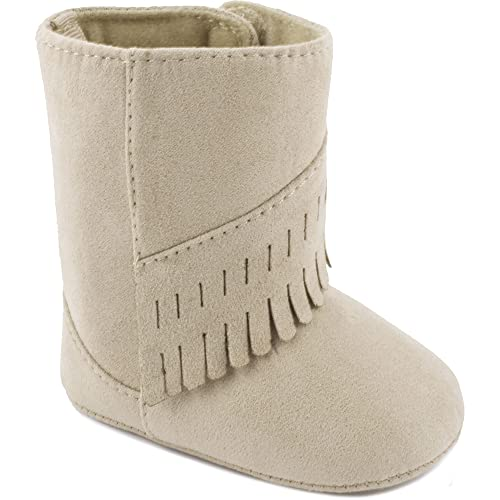 e4a3be28ceb Wee Kids Baby-Girls Suede Cloth Western Baby Boots Fringe Trim Infant Crib  Shoes/Baby Shoes Cowboy Boots