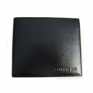 c51a7614f6 CERRUTI 1881 Mens Black Leather Wallet New (Black): Amazon.co.uk ...
