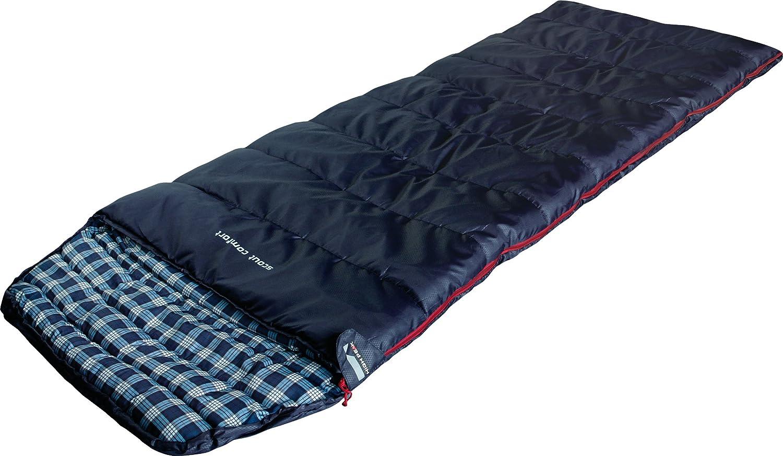 High Peak Scout Comfort Saco de Dormir, Azul Oscuro, 220 x 80 cm: Amazon.es: Deportes y aire libre