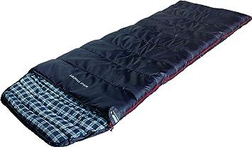 High Peak Scout Comfort Saco de Dormir, Azul Oscuro, 220 x 80 cm