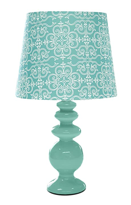 Amazon.com: Urban Shop Porcelain Lamp with Paris Lamp Shade with ...